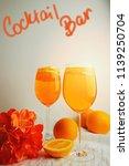 refreshing cocktails aperol...   Shutterstock . vector #1139250704