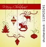 christmas background | Shutterstock .eps vector #113925241