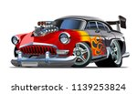 cartoon retro hot rod isolated... | Shutterstock .eps vector #1139253824