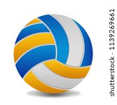 volleyball ball on white... | Shutterstock .eps vector #1139269661