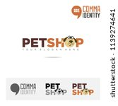 petshop animal company name and ... | Shutterstock .eps vector #1139274641