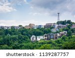 view of houses on a hillside on ... | Shutterstock . vector #1139287757