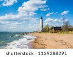 the new haven lighthouse  at... | Shutterstock . vector #1139288291