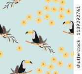 tropical seamless pattern with... | Shutterstock .eps vector #1139292761