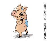 little pig geting spalshed | Shutterstock .eps vector #1139293301