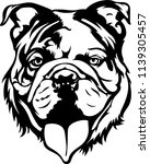 english bulldog lap dog breed... | Shutterstock .eps vector #1139305457