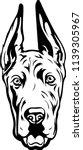 great dane dog breed face head... | Shutterstock .eps vector #1139305967