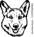 pembroke welsh corgi lap dog... | Shutterstock .eps vector #1139306981