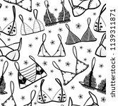 lingerie seamless pattern. hand ...   Shutterstock .eps vector #1139311871