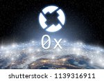 concept of 0x coin floating... | Shutterstock . vector #1139316911