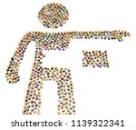 crowd of small symbolic figures ...   Shutterstock . vector #1139322341