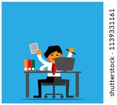 the enterprising office worker  ... | Shutterstock .eps vector #1139331161