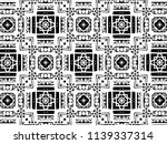 ornament with elements of black ... | Shutterstock . vector #1139337314