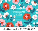 summer sale banner design with... | Shutterstock .eps vector #1139337587