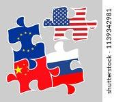 trade war concept between the...   Shutterstock . vector #1139342981
