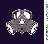 gas mask icon design | Shutterstock .eps vector #1139349485