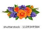 Orange Roses And Hyacinth...