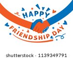 happy frienship day with... | Shutterstock .eps vector #1139349791