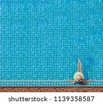 Woman Relaxing Swimming Pool Spa - Fine Art prints