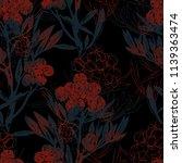 imprints flowering meadow grass ... | Shutterstock . vector #1139363474
