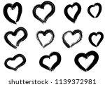 hand drawn hearts set. love... | Shutterstock .eps vector #1139372981