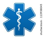 medical symbol of the emergency ... | Shutterstock . vector #113938045