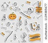 vector illustartion set of... | Shutterstock .eps vector #1139385677