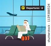 arab man in travel concept.... | Shutterstock .eps vector #1139388524