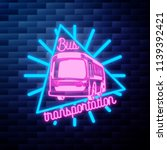 vintage bus transportation... | Shutterstock .eps vector #1139392421