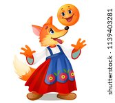 fox in traditional russian... | Shutterstock .eps vector #1139403281