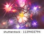 brain. electrical activity of... | Shutterstock . vector #1139403794