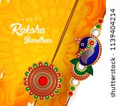 beautiful set of rakhi designs... | Shutterstock .eps vector #1139404214