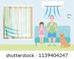 prevent indoor heat stroke.... | Shutterstock .eps vector #1139404247
