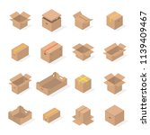 set of different cardboard...   Shutterstock . vector #1139409467