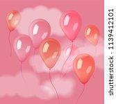 transparent balloons floating... | Shutterstock .eps vector #1139412101