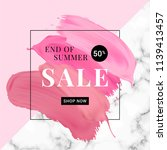 vector sale banner with text on ... | Shutterstock .eps vector #1139413457