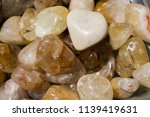 tumbled scitrine gem stone as ... | Shutterstock . vector #1139419631
