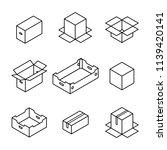 set of different cardboard... | Shutterstock .eps vector #1139420141