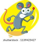 funny cartoon rat running... | Shutterstock .eps vector #1139425427