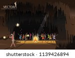 many people dancing around... | Shutterstock .eps vector #1139426894