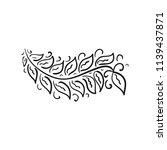 branch. sketch. vector... | Shutterstock .eps vector #1139437871