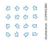 directional arrow set | Shutterstock .eps vector #1139441384