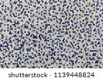 closeup of a round tile pattern.... | Shutterstock . vector #1139448824