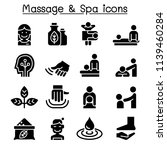 massage   spa icon set  | Shutterstock .eps vector #1139460284