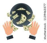 waste of money concept. dollar... | Shutterstock .eps vector #1139463377
