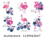 flamingo t shirt design. love... | Shutterstock .eps vector #1139463647