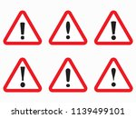 danger sign  road red triangle... | Shutterstock .eps vector #1139499101