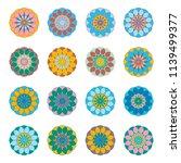 vintage circle ethnic elements. ...   Shutterstock .eps vector #1139499377