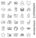 thin line vector icon set  ... | Shutterstock .eps vector #1139500694