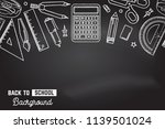 seamless pattern with school... | Shutterstock .eps vector #1139501024